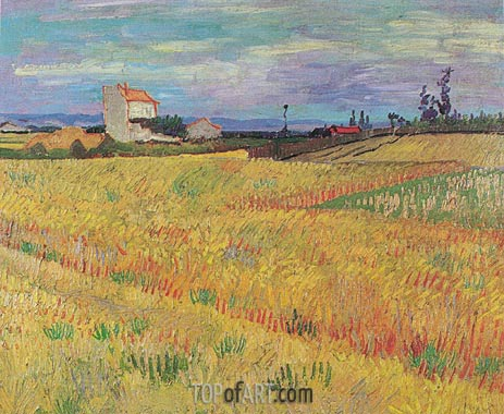Wheat Field, June 1888 | Vincent van Gogh | Gemälde Reproduktion