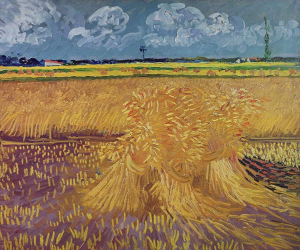 Vincent van Gogh | Wheat Field with Sheaves, June 1888