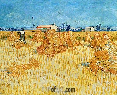 Harvest in Provence, 1888 | Vincent van Gogh | Gemälde Reproduktion