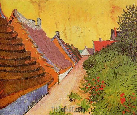 Street in Saintes-Maries, 1888 | Vincent van Gogh| Painting Reproduction