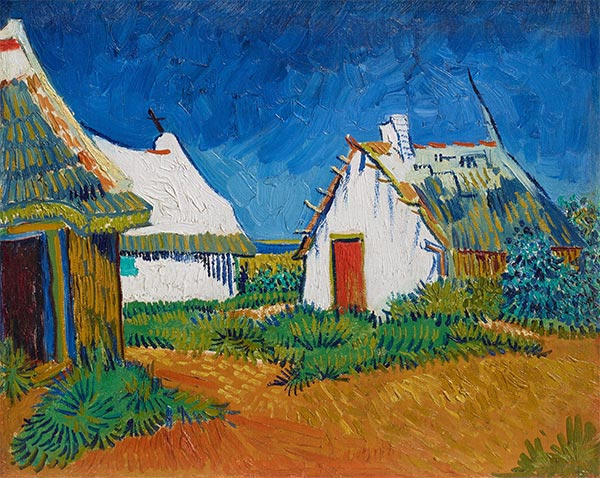 Three White Cottages in Saintes-Maries, Early June | Vincent van Gogh | Gemälde Reproduktion