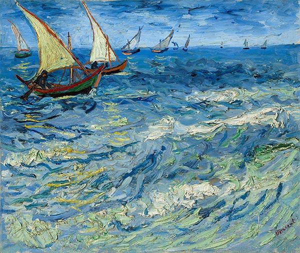 Seascape at Saintes-Maries, 1888 | Vincent van Gogh | Gemälde Reproduktion