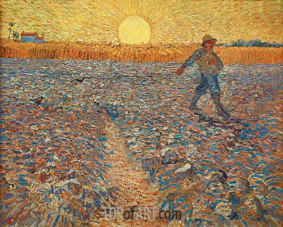 The Sower, 1888 | Vincent van Gogh| Painting Reproduction