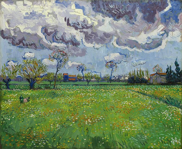 Landscape under Stormy Skies, May 1888 | Vincent van Gogh | Gemälde Reproduktion