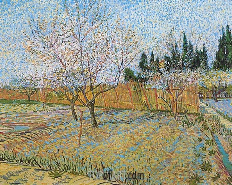 Vincent van Gogh | Orchard with Peach Tress in Blossom, April 1888