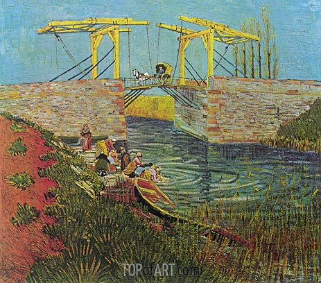 The Langlois Bridge at Arles, April 1888 | Vincent van Gogh | Gemälde Reproduktion