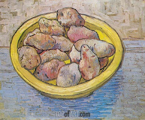 Still Life: Potatoes in a Yellow Dish, March 1888 | Vincent van Gogh | Gemälde Reproduktion