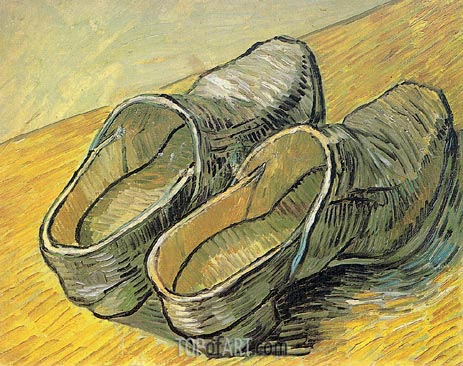 A Pair of Leather Clogs, 1889 | Vincent van Gogh | Painting Reproduction
