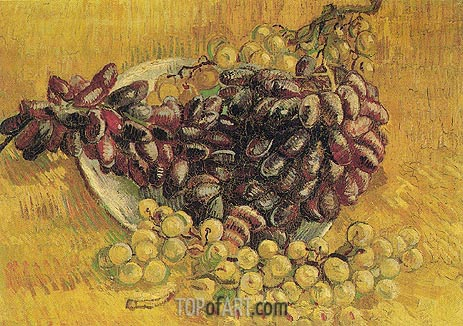 Still Life with Grapes, 1887 | Vincent van Gogh | Painting Reproduction