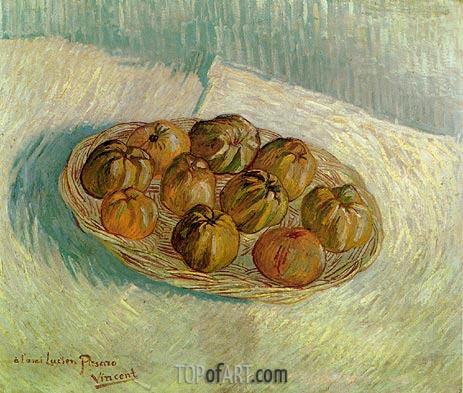 Basket of Apples (to his friend Lucien Pissarro), Autumn 188 | Vincent van Gogh | Gemälde Reproduktion