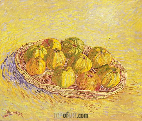 Still Life with Basket of Apples, 1887 | Vincent van Gogh | Painting Reproduction