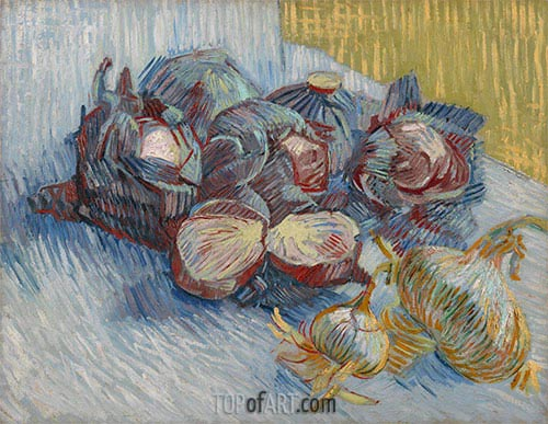 Vincent van Gogh | Still Life with Red Cabbages and Onions, 1887