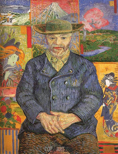 Portrait of Pere Tanguy, 1887 | Vincent van Gogh | Painting Reproduction