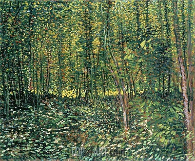 Trees and Undergrowth, 1887 | Vincent van Gogh | Gemälde Reproduktion