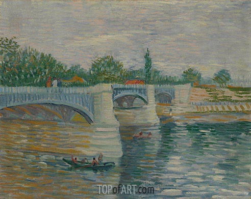 The Seine with the Pont de Clichy, 1887 | Vincent van Gogh | Painting Reproduction