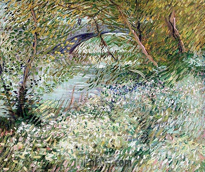 Banks of the Seine with Pont de Clichy in Spring, June 1887 | Vincent van Gogh| Gemälde Reproduktion