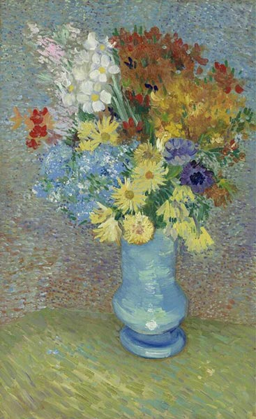 Vase with Daisies and Anemones, Summer 188 | Vincent van Gogh | Painting Reproduction