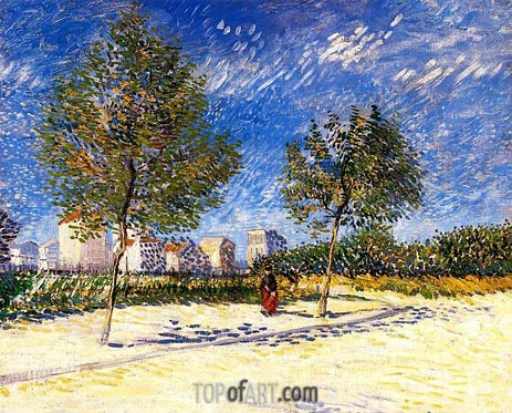 The Outskirts of Paris, Summer 188 | Vincent van Gogh | Painting Reproduction