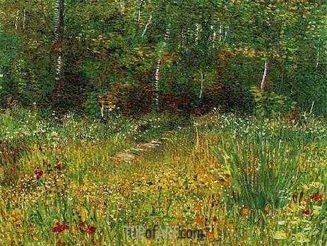 Park at Asnieres in Spring, Spring 188 | Vincent van Gogh | Painting Reproduction