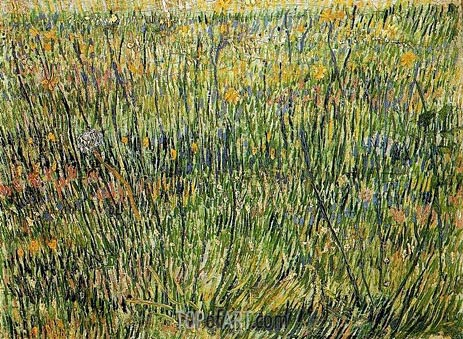 Pasture in Bloom, Spring 188 | Vincent van Gogh | Painting Reproduction