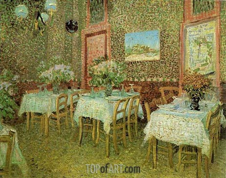 Interior of a Restaurant, June-July | Vincent van Gogh | Painting Reproduction