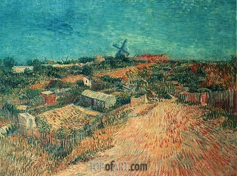 Vegetable Gardens in Montmartre: La Butte Montmart, June-July | Vincent van Gogh | Painting Reproduction