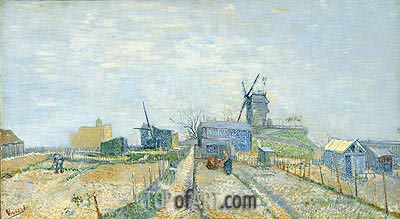Vegetable Gardens in Montmartre, 1887 | Vincent van Gogh| Painting Reproduction