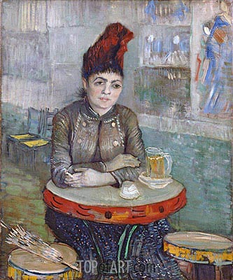 Agostina Segatori Sitting in the Cafe du Tambourin, c.1887/88 | Vincent van Gogh| Painting Reproduction