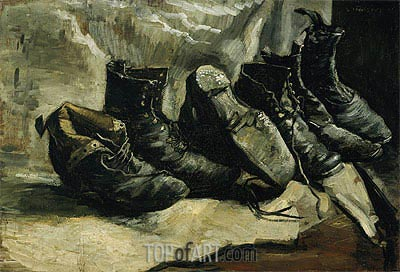 Three Pair of Shoes, c.1886/87 | Vincent van Gogh| Painting Reproduction