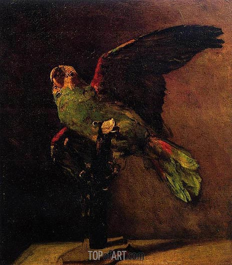 The green parrot vincent van gogh painting for Van gogh paintings locations