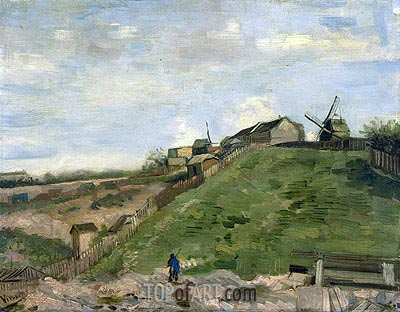 The Hill of Montmartre with Stone Quarry, 1886 | Vincent van Gogh | Gemälde Reproduktion