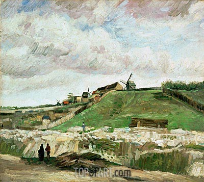The Hill of Montmartre with Stone Quarry, 1886 | Vincent van Gogh| Gemälde Reproduktion