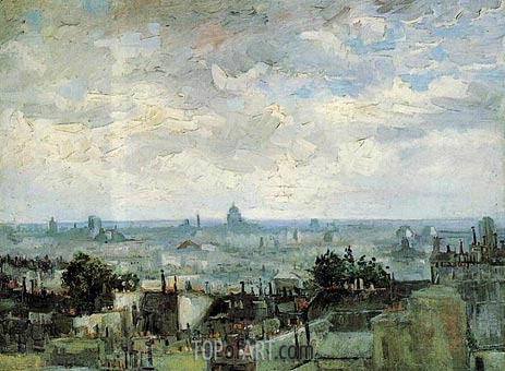 View of the roofs of paris vincent van gogh for Van gogh paintings locations
