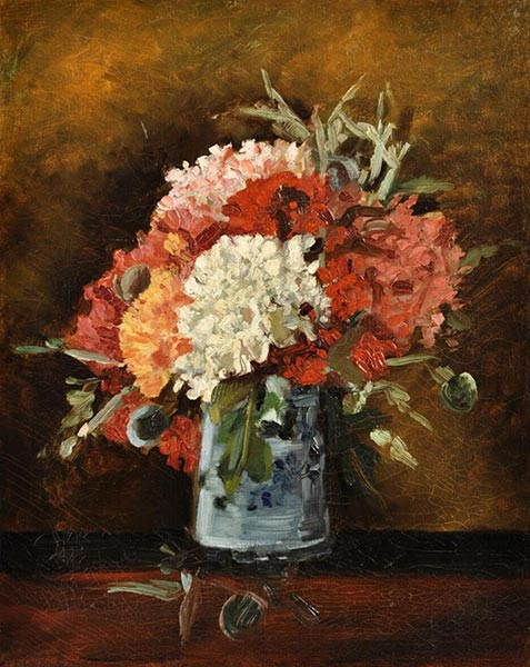 Vase with Carnations, Summer 188 | Vincent van Gogh | Painting Reproduction
