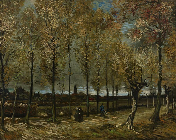 Lane with Poplars, November 1 | Vincent van Gogh | Painting Reproduction