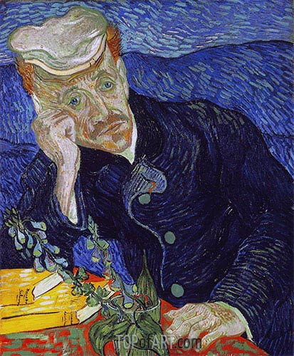 Portrait of Doctor Paul Gachet, 1890 | Vincent van Gogh| Painting Reproduction