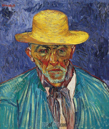 Portrait of a Peasant (Patience Escalier), 1888 | Vincent van Gogh | Painting Reproduction