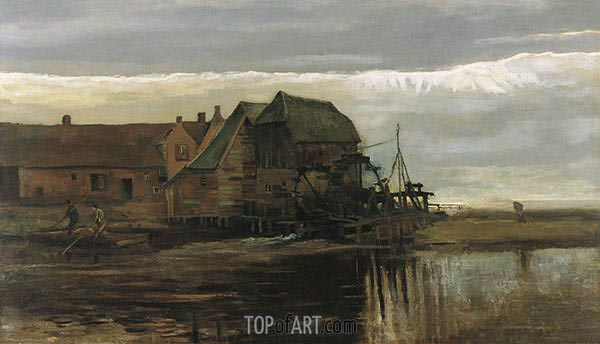 Watermill at Gennep, 1884 | Vincent van Gogh | Gemälde Reproduktion