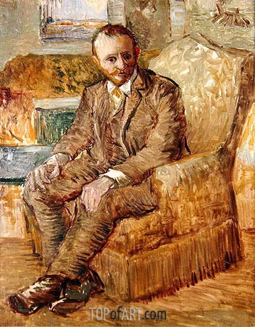 Portrait of Alexander Reid, c.1887 | Vincent van Gogh| Painting Reproduction