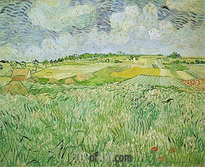 The Plain at Auvers, 1890 | Vincent van Gogh| Painting Reproduction