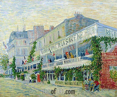 Restaurant de la Sirene at Asnieres, 1887 | Vincent van Gogh | Painting Reproduction