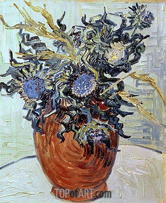 Still Life with Thistles, 1890 | Vincent van Gogh | Gemälde Reproduktion