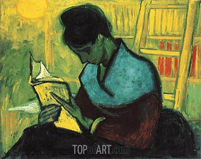 Roman's Reader, 1888 | Vincent van Gogh | Painting Reproduction