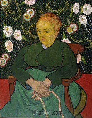 La Berceuse (Woman Rocking a Cradle), 1889 | Vincent van Gogh | Painting Reproduction