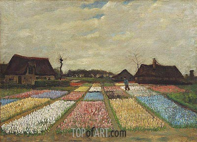 Flower Beds in Holland, c.1883 | Vincent van Gogh | Painting Reproduction