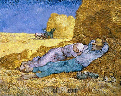 Noon (Rest from Work), 1890 | Vincent van Gogh| Painting Reproduction
