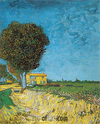 Lane near Arles (Side of a Country Lane), 1888 | Vincent van Gogh | Gemälde Reproduktion
