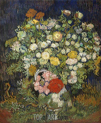 Bouquet of Flowers in a Vase, c.1889/90 | Vincent van Gogh | Painting Reproduction