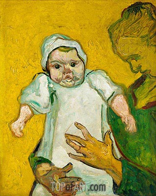 Madame Roulin and Her Baby, 1888 | Vincent van Gogh | Gemälde Reproduktion