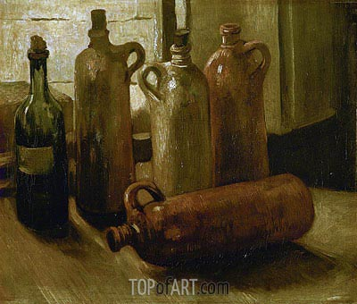 Still Life with Bottles, 1884 | Vincent van Gogh| Painting Reproduction